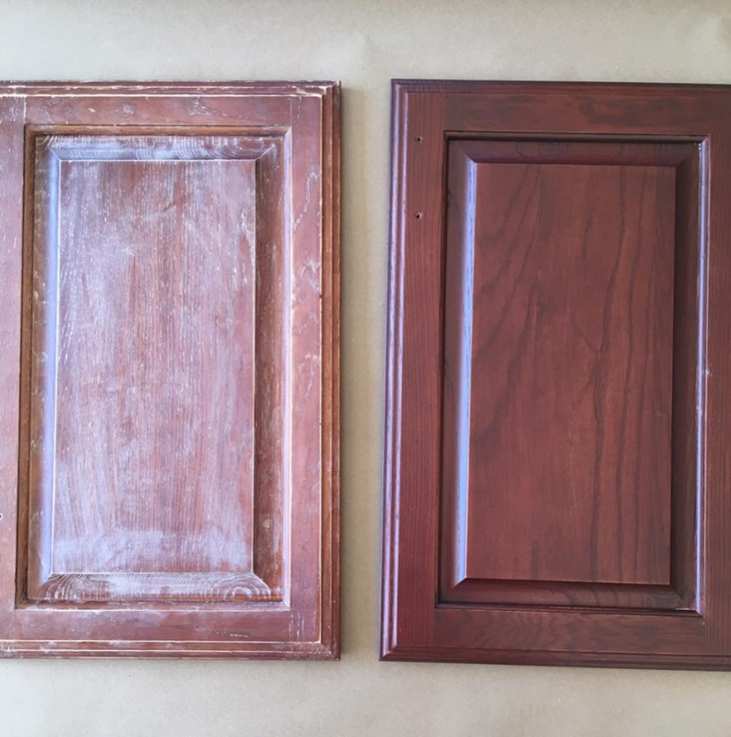 Texas Decor Rearranging The Tops Of My Kitchen Cabinets: Black Cherry Water Based Wood Stain Cabinet