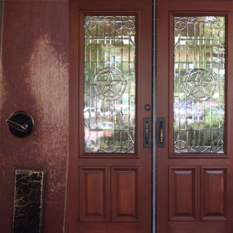 Door Fresh With Black Cherry Wood Stain