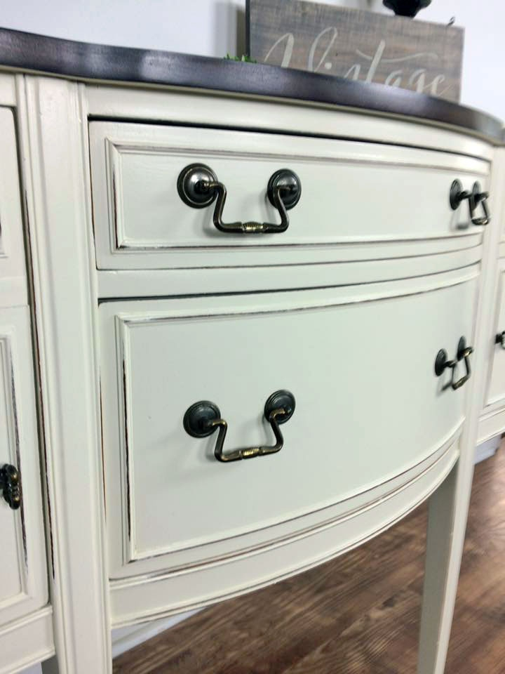Antique White And Espresso Buffet General Finishes