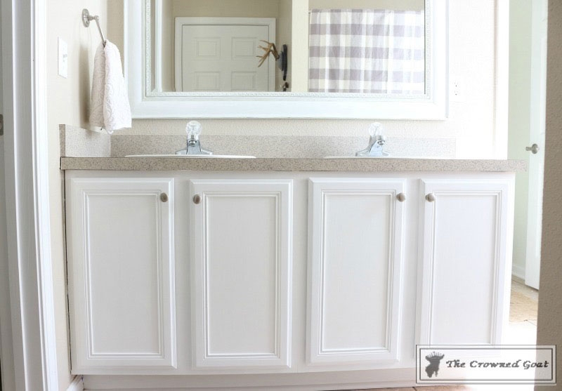 Bathroom revitalization in snow white general finishes design center Best paint finish for bathroom