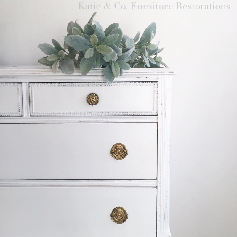 Delightfully Distressed Dresser In Snow White General