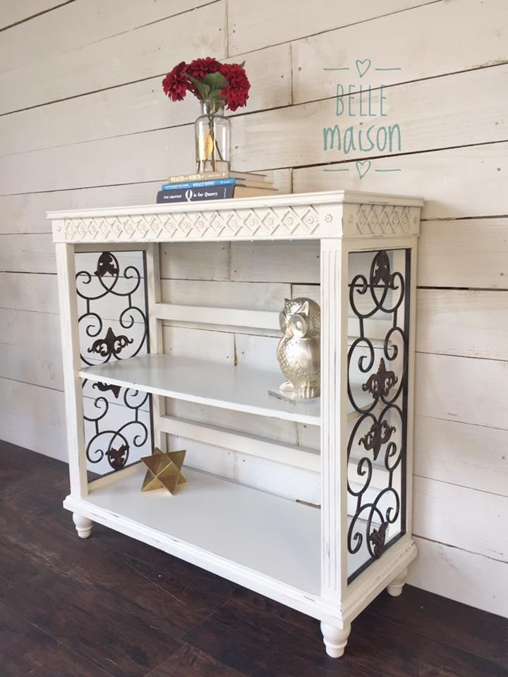 Petite Bookshelf In Antique White Milk Paint