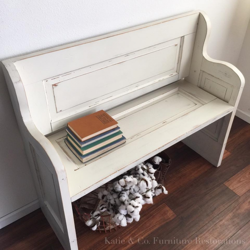 General Finishes Design Center: Darling Bench In Antique White