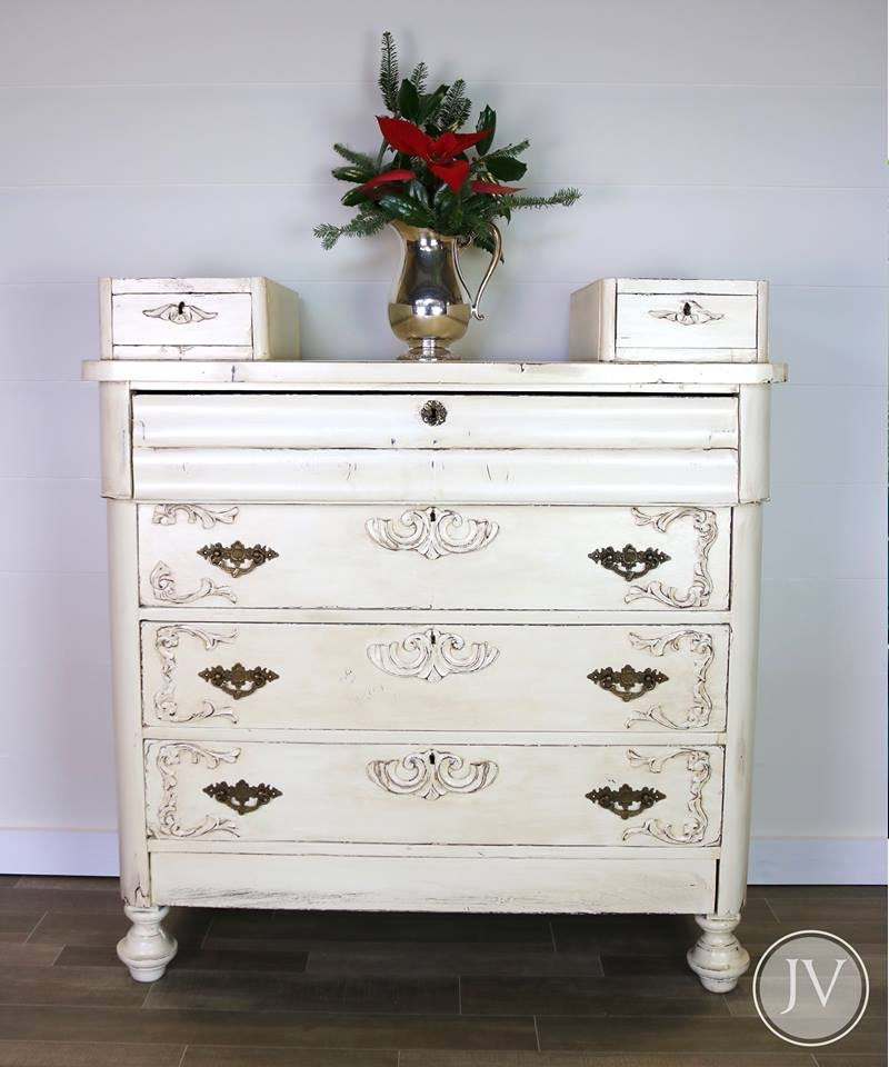 Dresser In Antique White Amp Van Dyke Brown Combo General