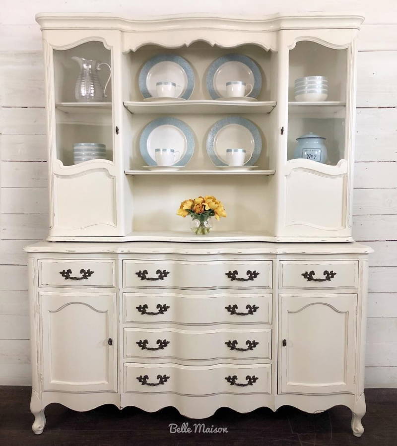 Paint Kitchen Cabinets Antique White: Gorgeous China Cabinet In Antique White