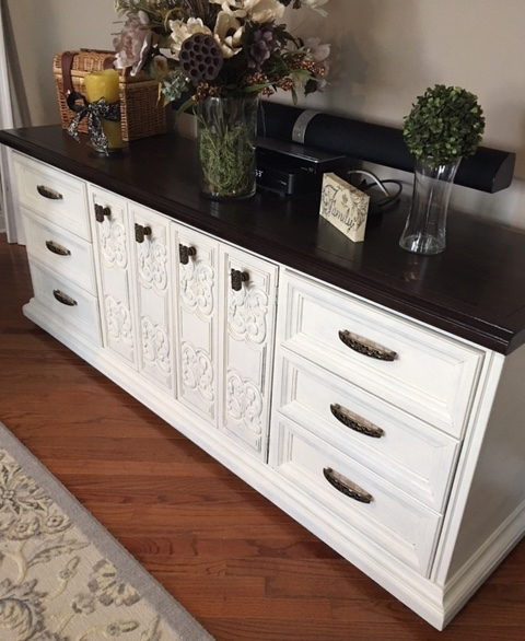 Credenza in Antique White Milk Paint | General Finishes ...