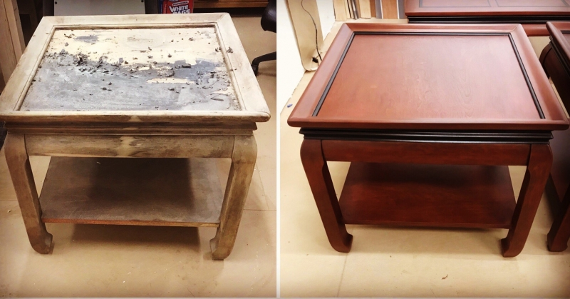 End Table Restoration With Black Cherry General Finishes
