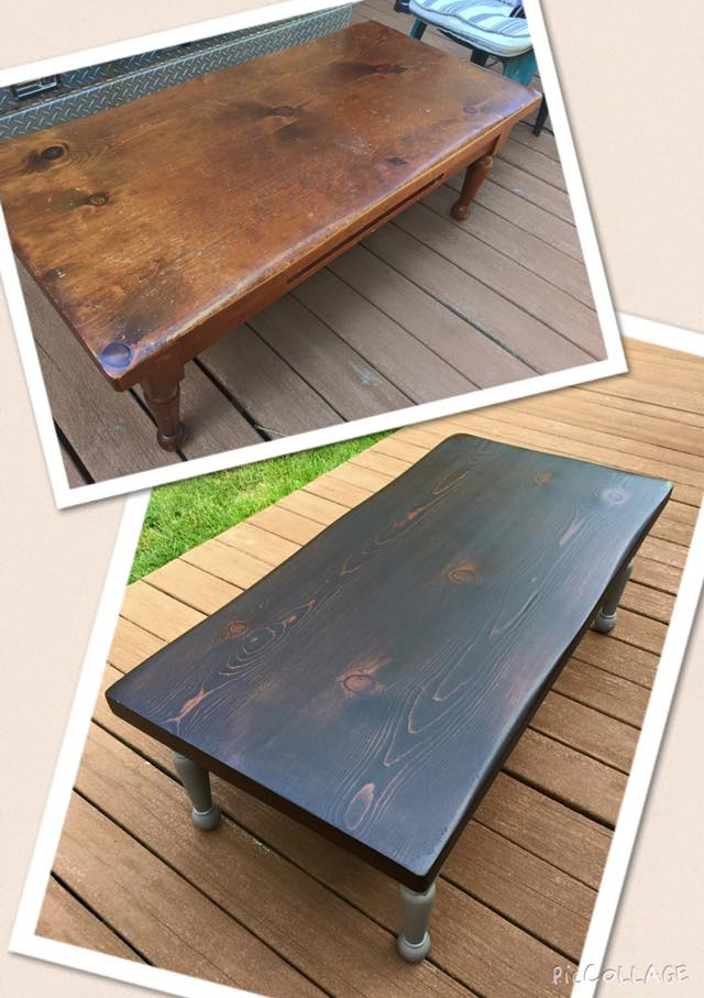 Java Gel Stain Coffee Table Transformation General Finishes Design Center
