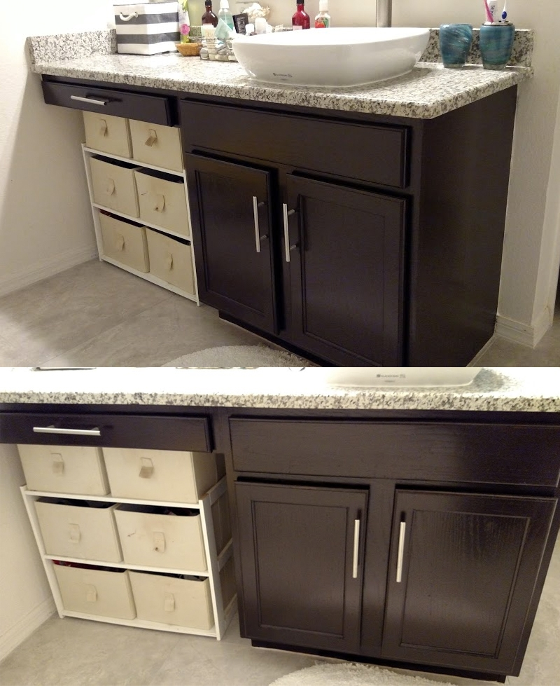 Bathroom Vanity Colors And Finishes: Bathroom Transformation In Java Gel Stain