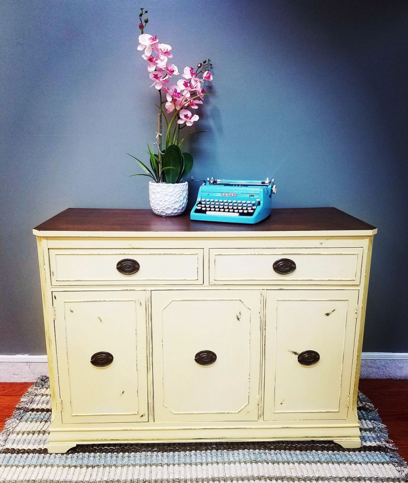 Custom Mixed Yellow Buffet General Finishes Design Center