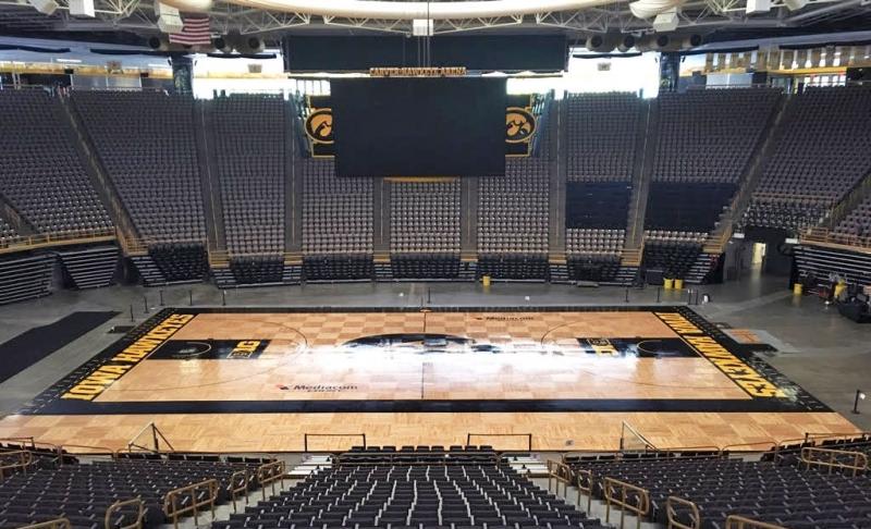 University Of Iowa Basketball Floor In Water Based Pro