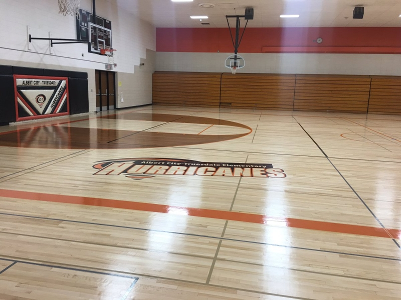 Albert City Truesdale Elementary Hurricanes Gym General Finishes Design Center