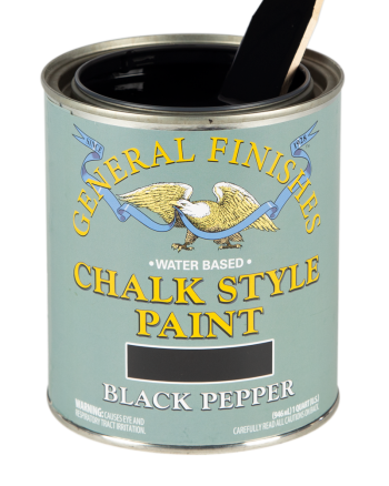 General Finishes Chalk Style Paint, Quart, Black Pepper