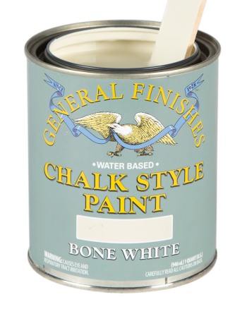 General Finishes Chalk Style Paint, Quart, Bone White