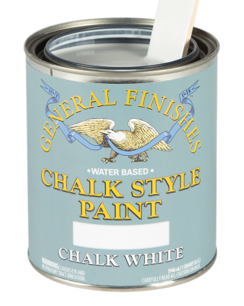 General Finishes Chalk Style Paint, Quart, Chalk White