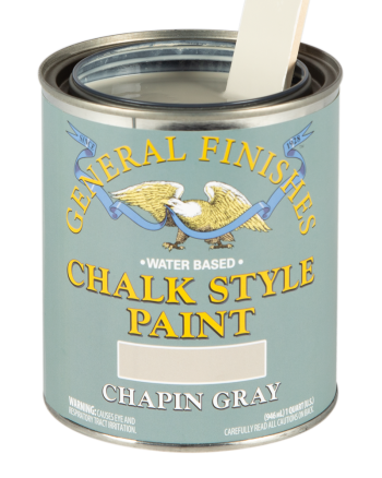 General Finishes Chalk Style Paint, Quart, Chapin Gray