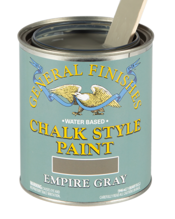 General Finishes Chalk Style Paint, Quart, Empire Gray
