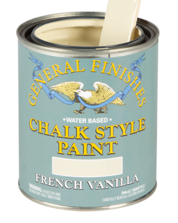 General Finishes Chalk Style Paint, Quart, French Vanilla