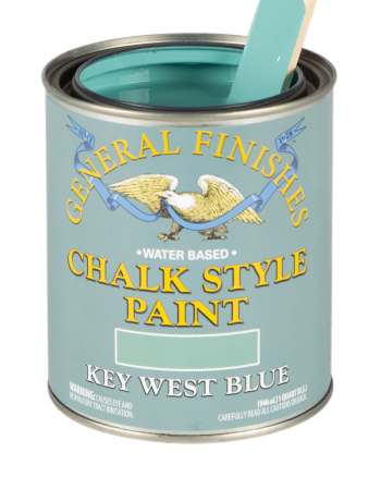 General Finishes Chalk Style Paint, Quart, Key West Blue