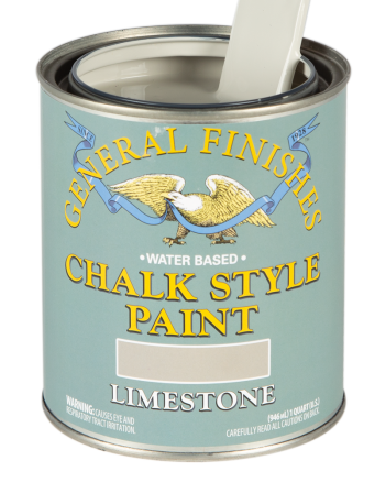 General Finishes Chalk Style Paint, Quart, Limestone