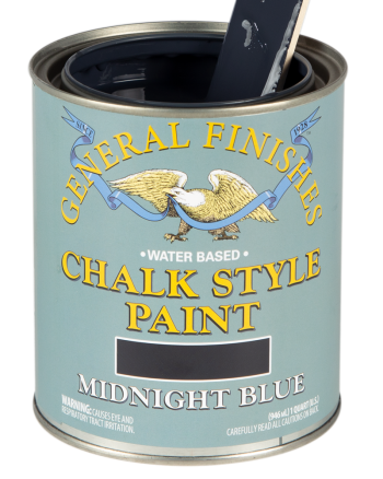 General Finishes Chalk Style Paint, Quart, Midnight Blue