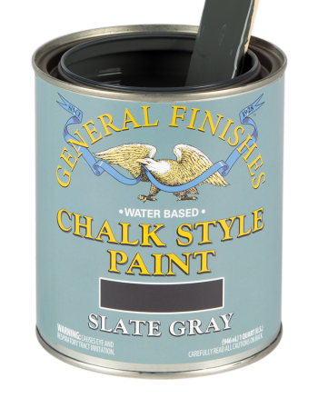 General Finishes Chalk Style Paint, Quart, Slate Gray