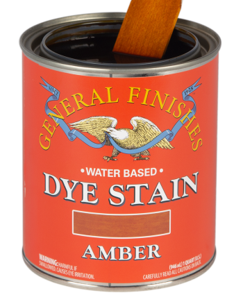 General Finishes Water Based Dye Stain, Quart, Amber