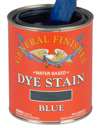 General Finishes Water Based Dye Stain, Quart, Blue