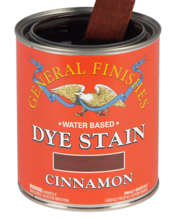 General Finishes Water Based Dye Stain, Quart, Cinnamon