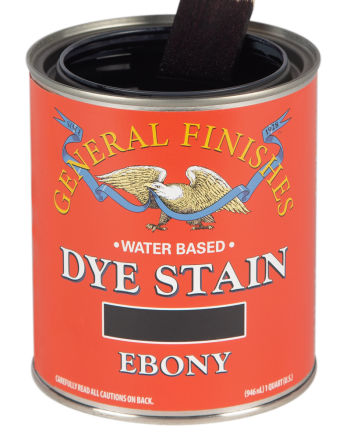 General Finishes Water Based Dye Stain, Quart, Ebony