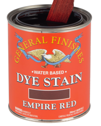 General Finishes Water Based Dye Stain, Quart, Empire Red