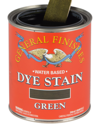 General Finishes Water Based Dye Stain, Quart, Green