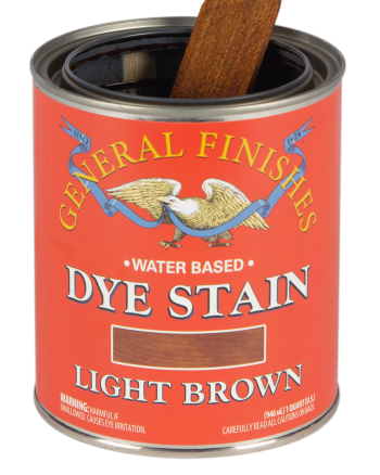 General Finishes Water Based Dye Stain, Quart, Light Brown