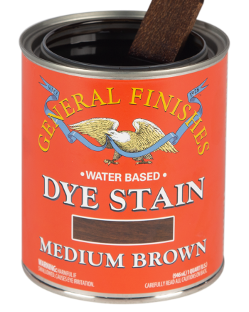 General Finishes Water Based Dye Stain, Quart, Medium Brown