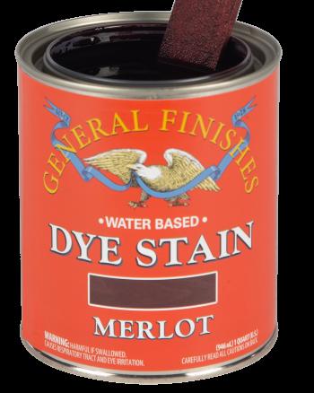 General Finishes Water Based Dye Stain, Quart, Merlot