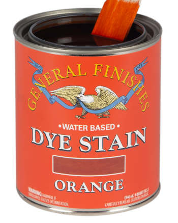 General Finishes Water Based Dye Stain, Quart, Orange