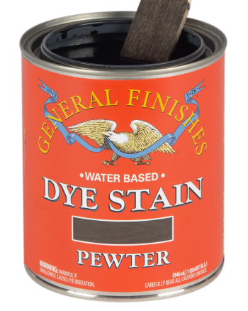 General Finishes Water Based Dye Stain, Quart, Pewter