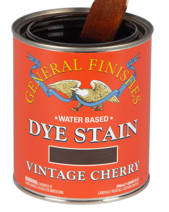General Finishes Water Based Dye Stain, Quart, Vintage Cherry