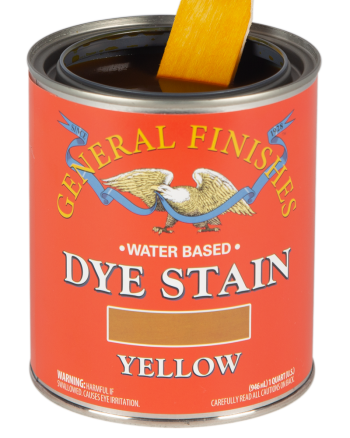 General Finishes Water Based Dye Stain, Quart, Yellow