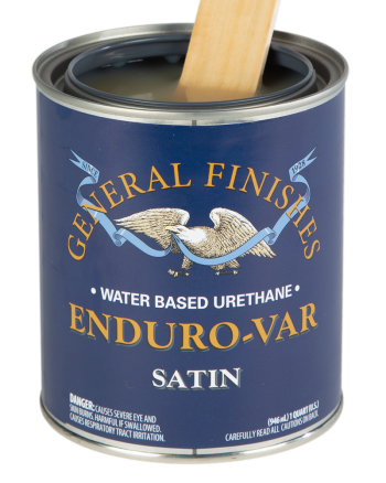 General Finishes Enduro-Var Water Based Topcoat, Quart, Satin