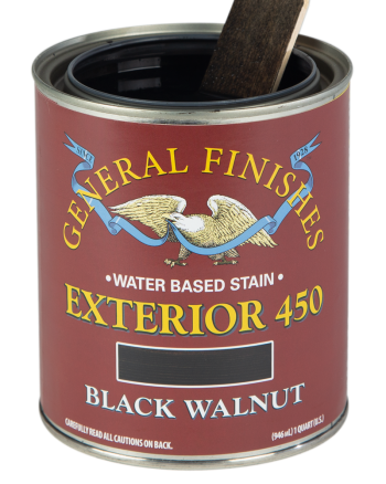 General Finishes Exterior 450 Water Based Wood Stain, Quart, Black Walnut