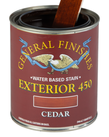 General Finishes Exterior 450 Water Based Wood Stain, Quart, Cedar