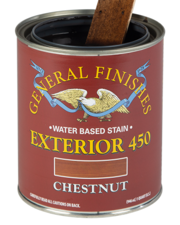 General Finishes Exterior 450 Water Based Wood Stain, Quart, Chestnut