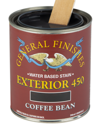 General Finishes Exterior 450 Water Based Wood Stain, Quart, Coffee Bean