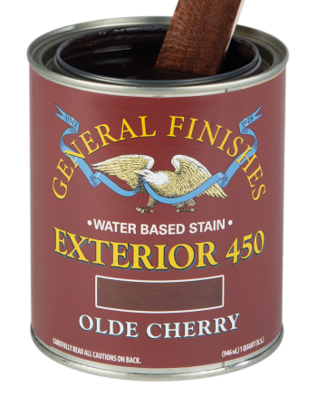 General Finishes Exterior 450 Water Based Wood Stain, Quart, Olde Cherry