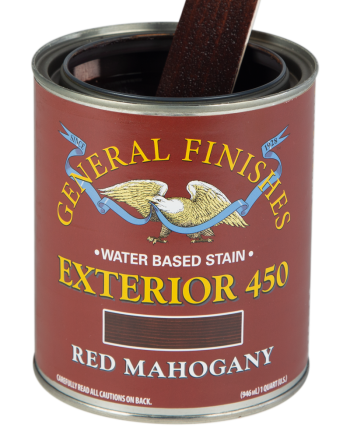 General Finishes Exterior 450 Water Based Wood Stain, Quart, Red Mahogany