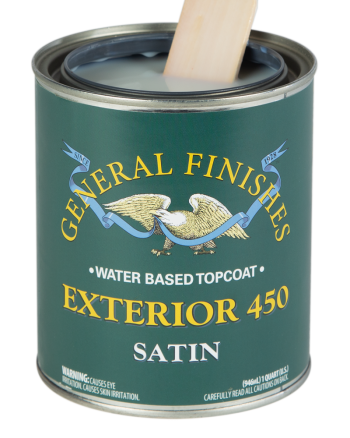 General Finishes Exterior 450 Water Based Topcoat, Quart, Satin