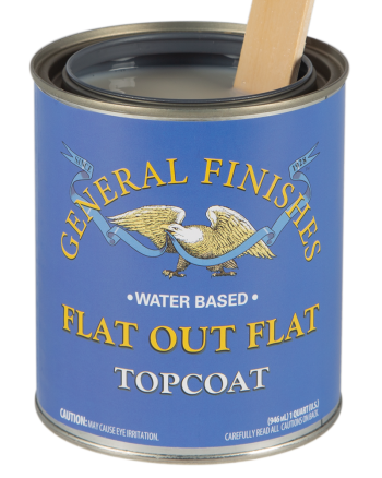 General Finishes Flat Out Flat Water Based Topcoat, Quart