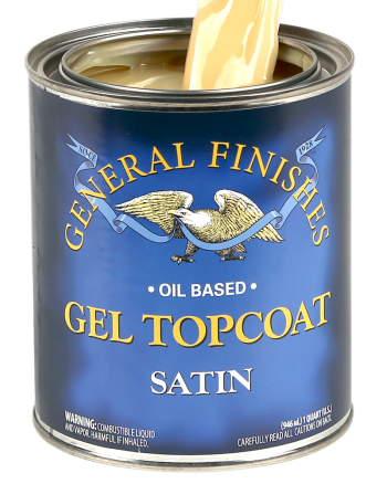 General Finishes Oil Based Gel Topcoat, Quart, Satin