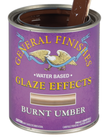 General Finishes Glaze Effects, Quart, Burnt Umber